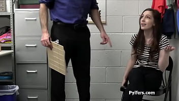 Catching and fucking a hot vlogger in the office