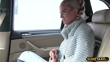 Married lady Nicole sucks and fucks hard in the taxi thumbnail