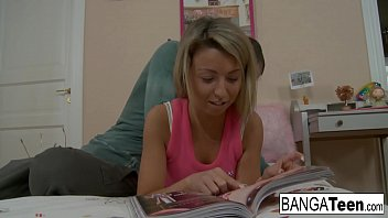 Sweet blonde's reading is interrupted for some sex