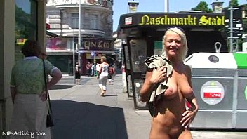 Hot Blonde Shows Their Naked Body In Public thumbnail