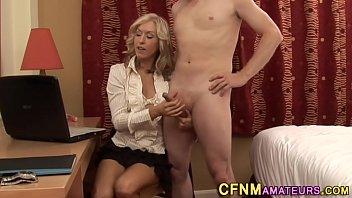 Hi def matures Amateur milf tugs cock