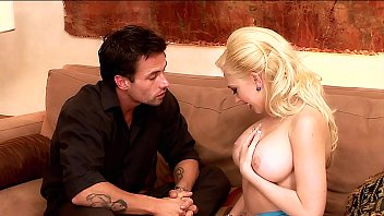 Stunning Blonde takes her New Boobs for a Spin! Busty Slut gets her Pierced Cunt Munched & a Pearl Necklace after a Relaxed Fuck