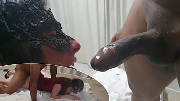 Cristina Almeida is taking a security guard´s black cock in a hotel in front of her cuckold. - Trailer