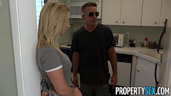PropertySex - Horny blonde cheats on her boyfriend with real estate agent thumbnail