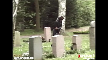 Pissing in the cemetary