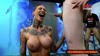 Xxx girls with tatoos - Tattooed calisi ink in piss arena - 666bukkake