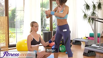 Fitness Rooms Cute freckled big tits teen has gym sex with blonde lesbian