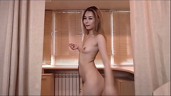 Skinny asian slut shows off