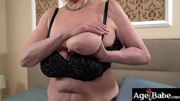 Busty granny Sila wants to please a young Rob