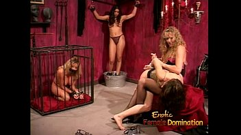 Lesbian dominatrix sex Kinky dominatrix enjoy spanking and whipping a sexy brunette bimbo