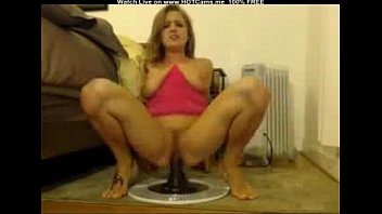 Busty Hottie Riding Big Black Toy Huge Squirt