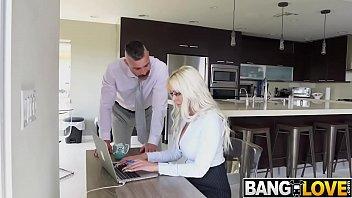Busty Secretary Nina Elle Gets Creampied