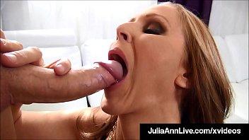 Cum On My Titties! Busty Milf Julia Ann Milks A Hard Cock!