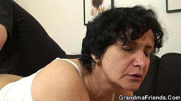 Hairy mature lady Her hairy old pussy is toyed and fucked