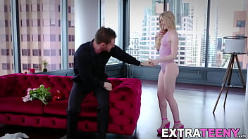 Tiny beauty Emma Starletto stretched with huge dicks