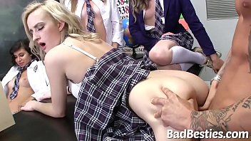 Sexy School Teens Boned by Big Dick