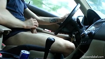 Jacking off while ass is licked - Jerking off while driving