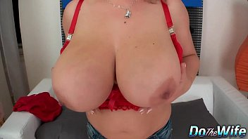 Big boobed wife fucks for her husband preview image