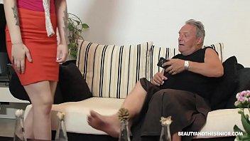 Beautiful MILF and sucks and fuck at grandpas