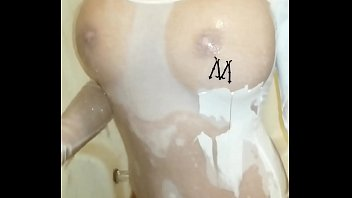 Getting all wet in the shower
