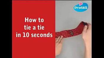 how to tie a tie in 10 secs