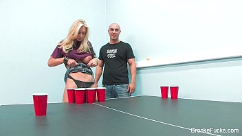 Sexy Beer Pong With Brooke Banner