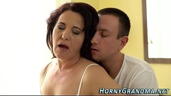 LustyGrandmas Saggy Granny is Horny for Young Dick