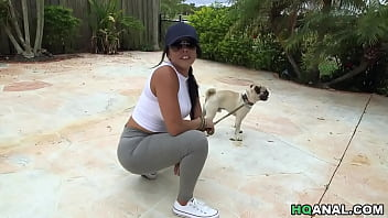 Diamond Kitty gets assfucked after dog walking by Sean Lawless 5 min