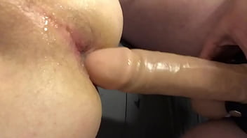 """Getting fucked in chastity by mistress with 9"""" thick cock."""