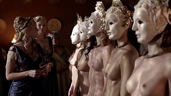 Naked and on display Katrina law - completely naked and wearing a mask - uploaded by celebeclipse.com