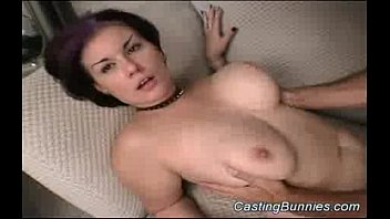 Identify the breasts Busty bunny fucked at casting