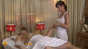 ORGASMS HD Sexy massage from cute busty brunette woman 15 min