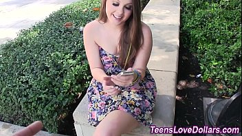 Amateur teen jizzed cash