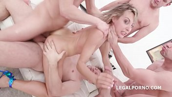 Drowned in piss, Vicky Sol 6on1 Insane watersport with Manhandle Balls Deep Anal, DAP, Gapes and Swallow GIO1341