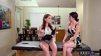 Horny big tits stepmom Massage a sexy sexy stepdaughter