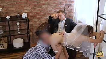 The bride stolen from the wedding and brutally fucked
