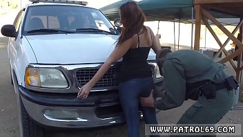 Laura captured cop Brunette gets pulled over for a cavity search and