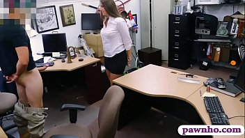 Phat ass brunette woman gets railed by pervert pawn guy thumbnail