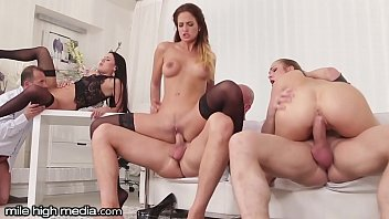 Mile high club xxx - Milehigh anal swingers 3 on 3 wife swapping orgy