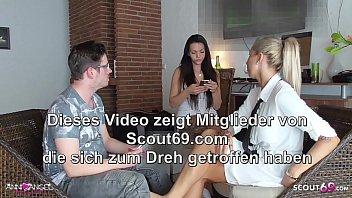 Girlfriend caught BF get Footjob Cheating by German Broker 7 min