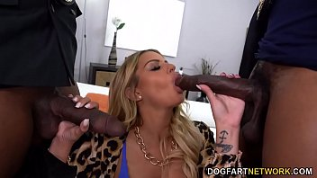 Busty MILF Brooklyn Chase Persuades Tax Agents With Anal Sex And DP