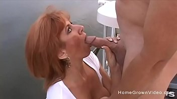 Mature redhead videos Gorgeous cougar has her hairy pussy stuffed on a boat