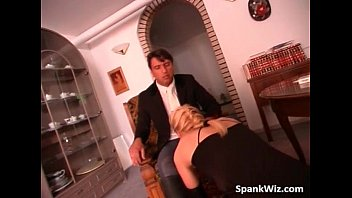 Attractive and hot blonde lies on dude