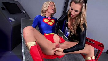 Super Lesbian Heroes, BIG TITS MILF and Sidekick Enemy