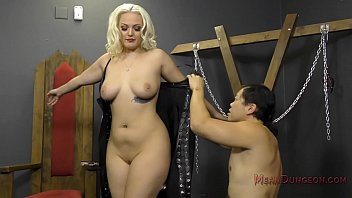 Femdom mistress forced Blonde bombshell makes her slave worship her - jenna ivory