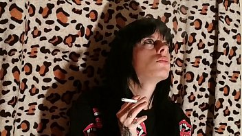 Beth Kinky - Sexy goth domina smoking 2 pt2 HD