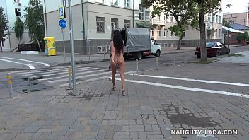 Making stride breast cancer walk - Completely nude in public. nude on city streets