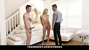 TeamSkeet - Cute Blonde With Small Tits Shared By Two Big Dick Twins