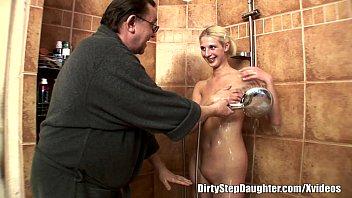 Lewd Stepdad Likes It When You're All Wet 24 min
