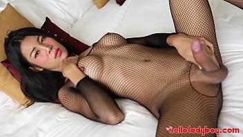 "HelloLadyBoy Busty Fish Net Asian Babe Slobbers On Big Cock <span class=""duration"">12 min</span>"